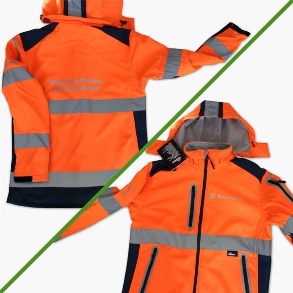 "Warnschutz-Softshell ""HV-trast"" TOP  orange/marine"